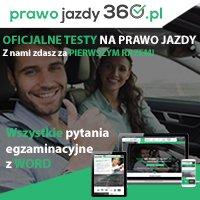Baner serwisu prawo-jazdy-360.pl do zamieszenia na stronie zewnętrznej 250x250