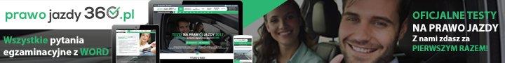 Baner serwisu prawo-jazdy-360.pl do zamieszenia na stronie zewnętrznej 728x90