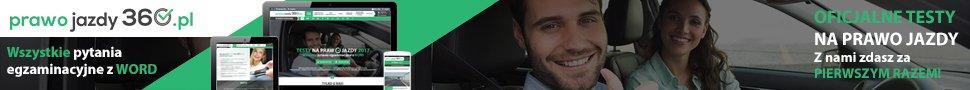 Baner serwisu prawo-jazdy-360.pl do zamieszenia na stronie zewnętrznej 970x90